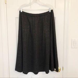 Lela Rose for Lane Bryant Black Sparkle Skirt